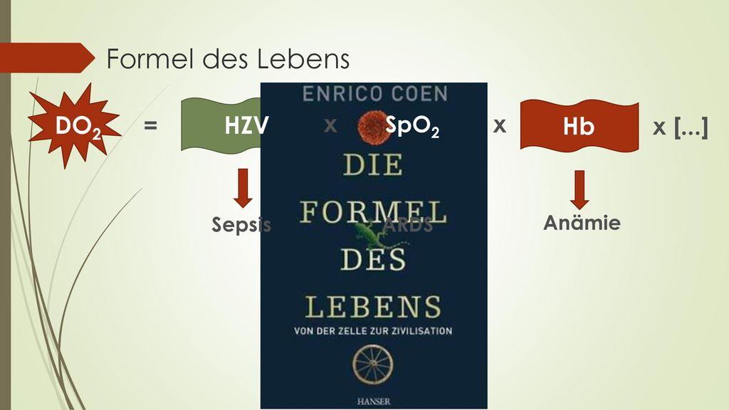 Formel des Lebens DO2 = HZV x SpO2 x Hb x [...] Anämie Sepsis ARDS